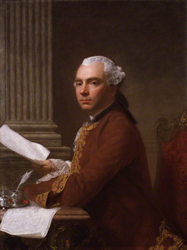 Fig.17 A Roman tela di quattro palmi. Allan Ramsay's Robert Wood, painted in Rome, 1755, 39 x 29 ½ ins (99.1 x 74.9 cm) (National Portrait Gallery).