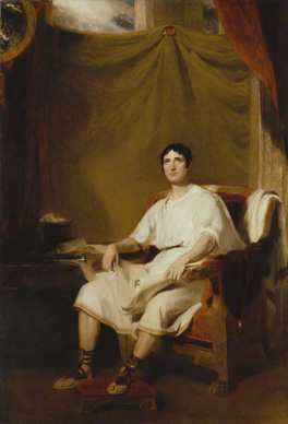 Fig.13 King size format. Or Bishop's full-length. Thomas Lawrence's John Philip Kemble, 1812, 105 ¼ x 71 5/8 ins (267 x 182 cm) (National Portrait Gallery).