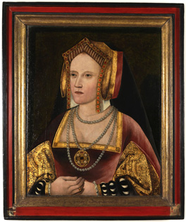 Catherine of Aragon, unknown artist, c.1520. By permission of the Archbishop of Canterbury and the Church Commissioners
