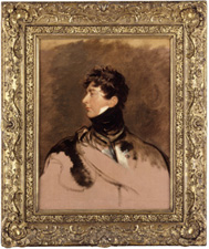Fig.6. George IV, by Thomas Lawrence, c.1814 (National Portrait Gallery). Frame gilt compo on pine, width 7 ½ ins (19 cm).