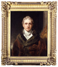 Fig.5. Lord Castlereagh, by Thomas Lawrence, 1809-11 (National Portrait Gallery). Frame gilt compo on pine, width 5 ½ ins (14 cm).