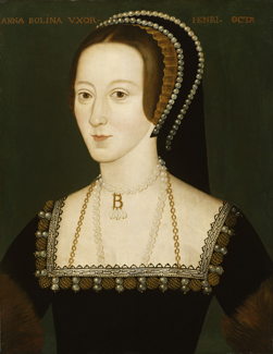 Anne Boleyn by an Unknown artist, oil on panel, late sixteenth century NPG 668