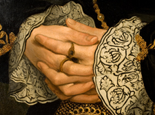 Detail showing the hands (NPG 1119)