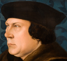 Detail of Thomas Cromwell, Earl of Essex (c.1485-1540), after a portrait by Hans Holbein the Younger (1497/8-1543), NPG 1727