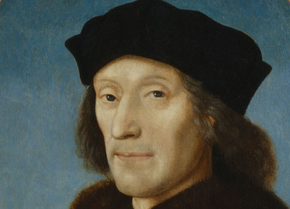 King Henry VII by Unknown Netherlandish artist oil on panel, 1505  NPG 416 © National Portrait Gallery, London (detail)