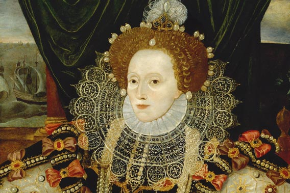 Queen Elizabeth I (detail) by Unknown English artist © National Portrait Gallery, London