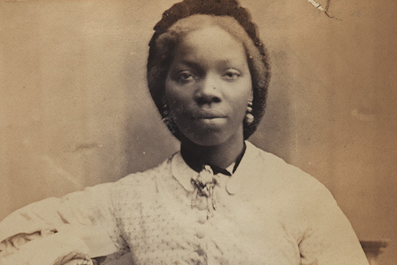 Portrait of Sarah Forbes Bonetta by Camille Silvy