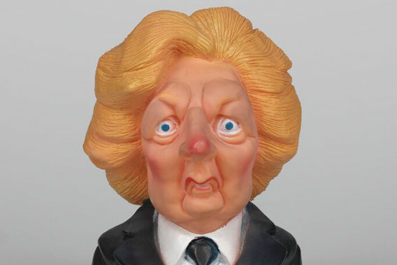 Margaret Thatcher by Spitting Images Productions Ltd painted plastic, 1985