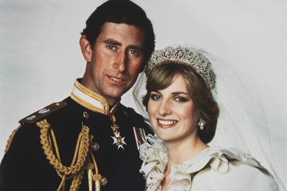 Wedding portrait of Prince Charles; Diana, Princess of Wales by Patrick Lichfield