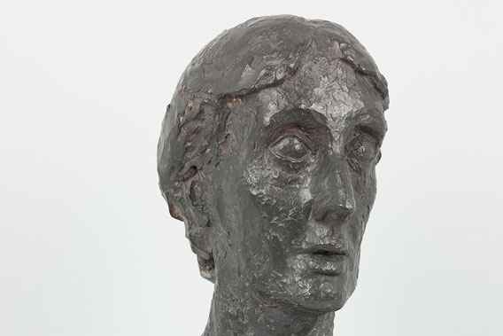 Explore sculptures, Virginia Woolf (detail) by Stephen Tomlin