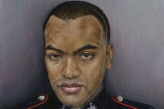 People and Portraits, painting of Johnson Gideon Beharry, Soldier