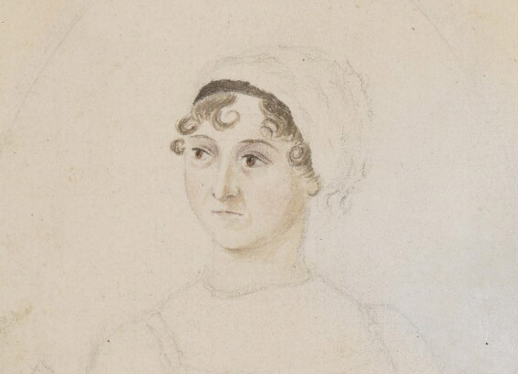Regency Portraits Catalogue, pencil and watercolour of Jane Austen, Novelist
