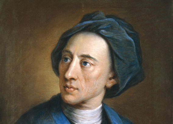 Early Georgian Portraits, portrait of Alexander Pope by William Hoare