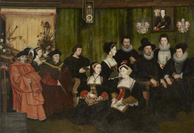 Sir Thomas More and and his descendants by artist Rowland Lockey, after Hans Holbein the Younger