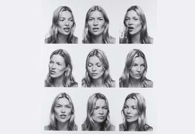 photograph of Fashion model Kate Moss by photographer Corinne Day