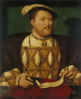 Henry VIII , by Joos van Cleve, c.1530-35 Royal Collection Trust/© Her Majesty Queen Elizabeth II 2014