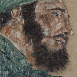 Fidel Castro I by Leon Golub, 1977. Ulrich Meyer and Harriet Horwitz Meyer Collection. Photograph by Michael Tropea, Chicago
