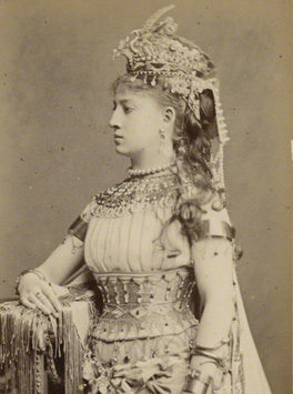 Ellen Lancaster Wallis (Mrs Walter Reynolds) as Cleopatra in 'Antony and Cleopatra' by London Stereoscopic & Photographic Company 1873 NPG Ax28485
