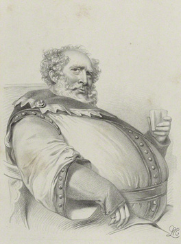 Charles Kemble as Falstaff in 'Henry IV' by Richard James Lane, printed by Jérémie Graf, published by Colnaghi and Puckle published May 1840 NPG D22325