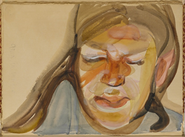 Anna in Venice by Lucian Freud, c.1960 © The Lucian Freud Archive
