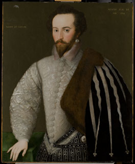Sir Walter Ralegh (1552–1618) by Unknown English artist, 1588 © National Portrait Gallery, London