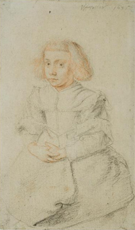 Seated Young Girl, Wenceslaus Hollar, 1635, UCL Art Museum, University College London