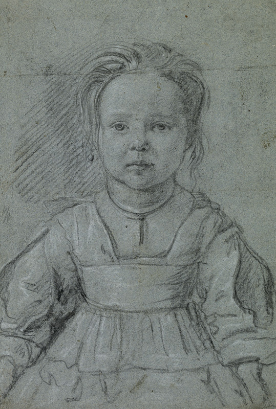 Young Girl Wearing an Apron, Unidentified artist, c. 1640, The British Museum