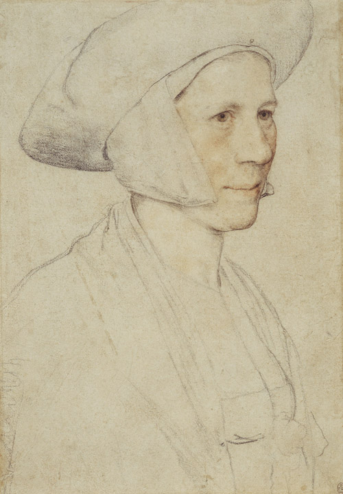 Woman Wearing a White Headdress, Hans Holbein the Younger, c. 1526-8, The Royal Collection