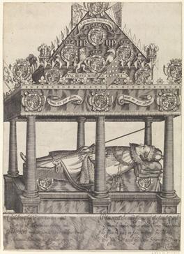 The Hearse of Henry, Prince of Wales by William Hole, 1612 © The Trustees of the British Museum
