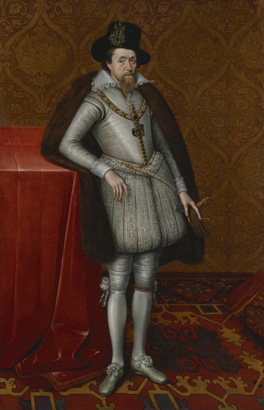 James VI of Scotland and I of England by John de Critz the Elder c.1606 by permission of the Trustees of Dulwich Picture Gallery, London