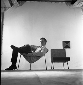 Terence Conran in his cone chair by Ray Williams, 1950s © Estate of Ray Williams