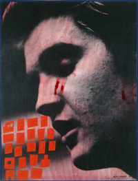 Oedipus (Elvis Johnson #1) by Ray Johnson (1956-7) - © Estate of Ray Johnson at Richard L Feigen & Co
