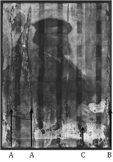 X-ray image of Hans Holbein of Antwerp