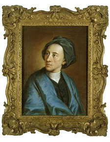 Fig.2 Alexander Pope by William Hoare of Bath