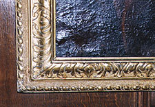 Carved and gilt reverse pattern frame