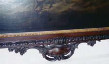 Fig. 3 Flagship before the Wind, by Charles Brooking, 1754, bottom cartouche of frame by James Dryhurst