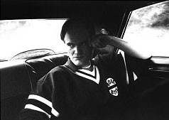 Quentin Tarantino, Mulholland Drive, Hollywood March 2001 - © Fergus Greer