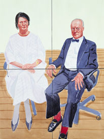 George and Mary Christie David Hockney, 2002. Watercolour on paper (4 sheets), 1220 x 915 mm - © 2003 David Hockney