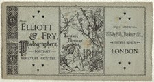 Elliott & Fry Advertisement, 1880s