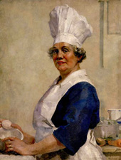The Arts Club's Woman Chef Francis Edwin Hodge, 1935 The Arts Club, London