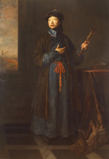 Michael Alphonsus Shen Fu-Tsung,     'The Chinese Convert' by Sir Godfrey Kneller, 1687 Oil on canvas, 2121 x 1320mm Lent by Her Majesty the Queen