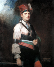 Joseph Brant (Thayendanegea) by George Romney, 1776 Oil on canvas 1270 x 1016mm - © National Gallery of Canada, Ottawa