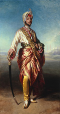Maharaja Dalip Singh by Franz Xaver Winterhalter, 1854 Oil on canvas, 2038 x 1095mm Lent by Her Majesty the Queen