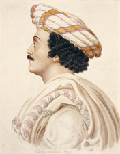 'Ram Mohan Roy' Unknown artist, c.1820 125 x 100mm - © Victoria and Albert Museum