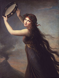 Emma Hamilton as a Bacchante Elizabeth Vigée le Brun, circa 1790-2 oil on canvas, Lady Lever Art Gallery, - © The Board of Trustees of National Museums & Galleries on Merseyside (not in exhibition)