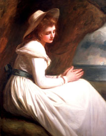 Emma Hart in a Cavern George Romney, circa 1782-5 oil on canvas, - © National Maritime Museum, London (cat. 121)