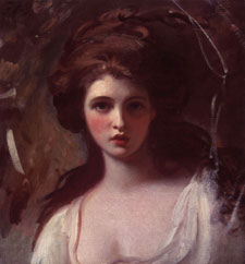 Study of Emma Hart as Circe George Romney, circa 1782-5 oil on canvas, - © Tate, London 2001 (cat. 98)