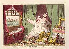 Dido in Despair James Gillray, 1801 Hand coloured etching National Portrait Gallery Archive Engravings Collection (not in exhibition)