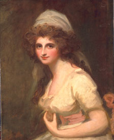 Emma Hart, later Lady Hamilton, in a White Turban George Romney, circa 1791 oil on canvas, Courtesy The Huntington Library, At Collections and Botanical Gardens, San Marino, California (not in exhibition)