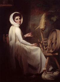 Emma, as 'The Spinstress' George Romney, circa 1784-5 oil on canvas, English Heritage (Iveagh Bequest, Kenwood) English Heritage Photo Library (cat. 108)